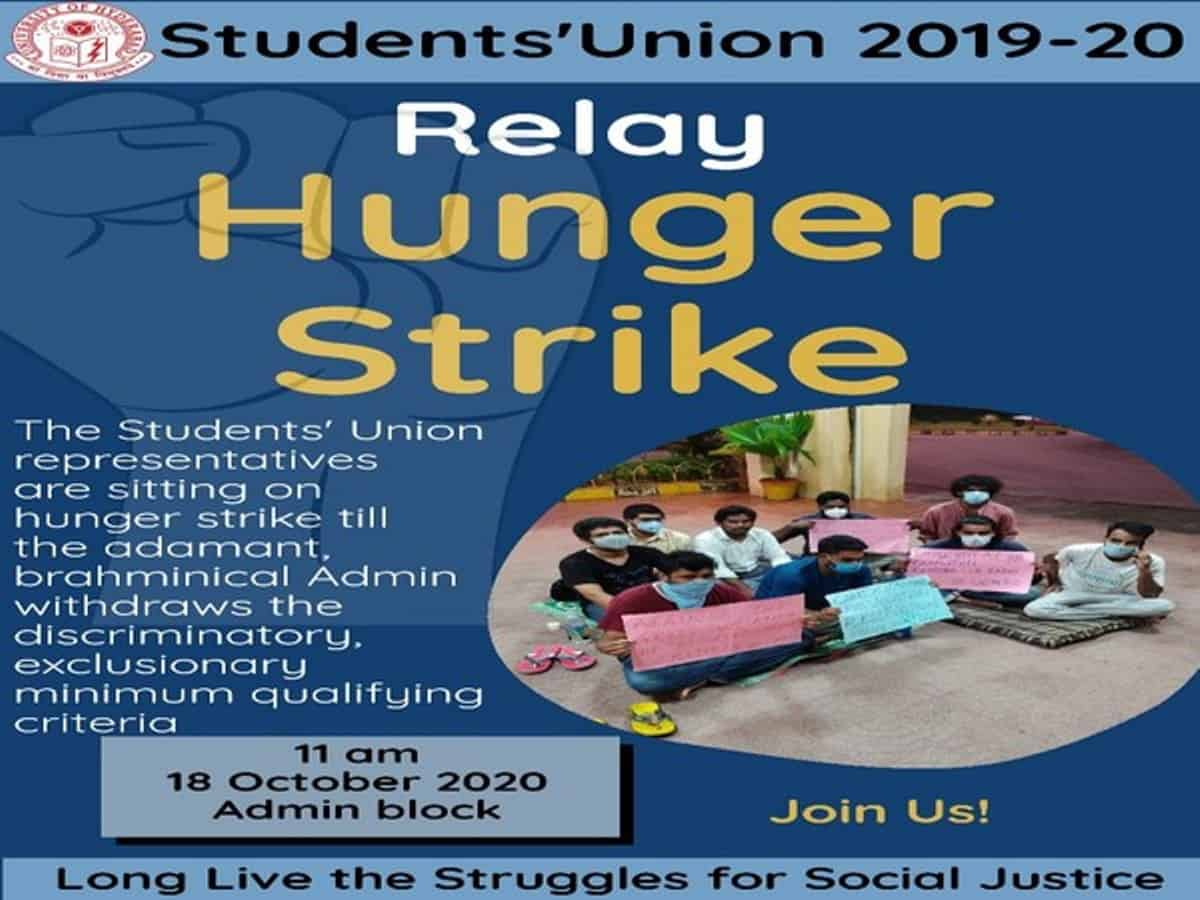 Hyderabad University's students on indefinite hunger strike