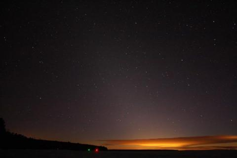 Zodiacal light is a glowing pyramid after dark